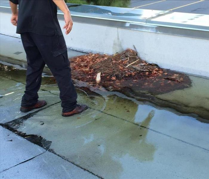 A Flooded Roof Due to A Plugged Drain During A Storm at Our Local Business Chamber (2)
